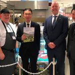 HCC's Rhys Llywelyn launches a food fair in Osaka